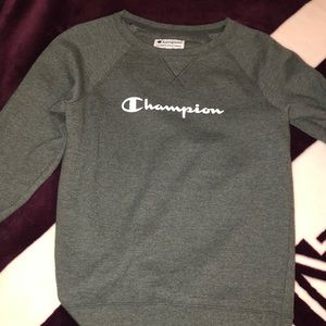 gray champion pullover